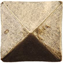 """Dritz 44271 Upholstery Decorative Square Head Nails, Antique Brass, 3/4"""", 10 Pack"""