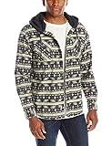 UNIONBAY Men's Classic Flannel Hoodie, Natural, Medium