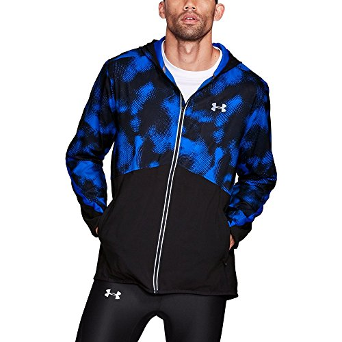 Under Armour Men's Run True Printed Jacket,Lapis Blue (984)/Reflective, Medium by Under Armour (Image #1)