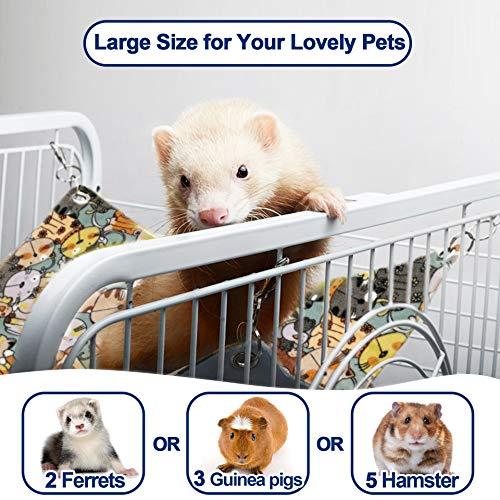 RAYFARMO Ferret Rat Hammock,Guinea Pig Ferret Toys for Cage Accessories, Small Animal Hanging Hammock