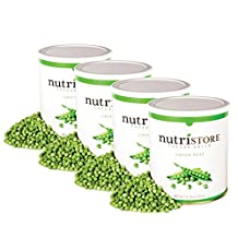 Nutristore Freeze Dried Green Peas (4 pack of #10 cans). Healthy whole food snacks for toddlers, school lunches or cooking