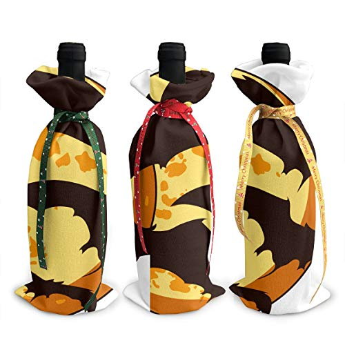 YFIGOID Bat Cute Halloween.png Christmas 3pcs Wine Bottle Cover Sets Decorations Bag]()