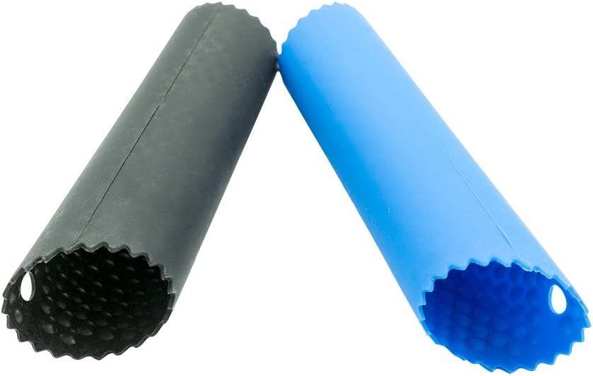 Allium Sativum Skin Odor Remover Kitchen Peeling Tools 2 pcs Update Convenient Ultimate Peelers. Garlic Peeler Blue+Black Silicone Tube Roller Safe Silicon Utensil