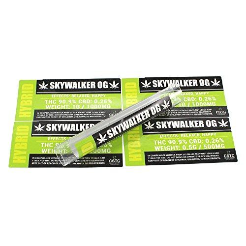 Skywalker OG Medical Dispensary Strain by Shatter Labels 0.50G & 1.0G Tube Stickers TS-008 (25 x 0.5G) by Shatter Labels