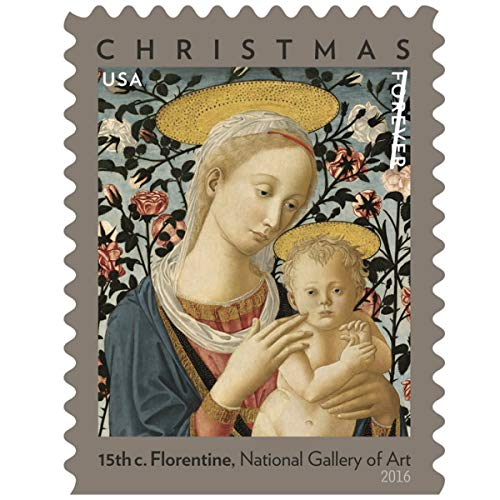 (10 pack (200 Stamps)) - Florentine Madonna and Child USPS Forever First Class Postage Stamp U.S. Holiday Christmas Sheets (200 Stamps) (10 Booklets of 20 Stamps) 10 pack (200 Stamps)  B07JDF4H8N