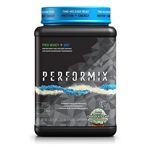PERFORMIX PRO WHEY + SST Protein Powder with Time-Release Caffeine and Super Suspension Thermogenic - 1lb Mint Chocolate Chip
