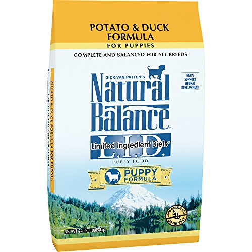 Natural Balance Puppy Formula L.I.D. Limited Ingredient Diets Dry Dog Food, Potato & Duck Formula, Grain Free, 24-Pound