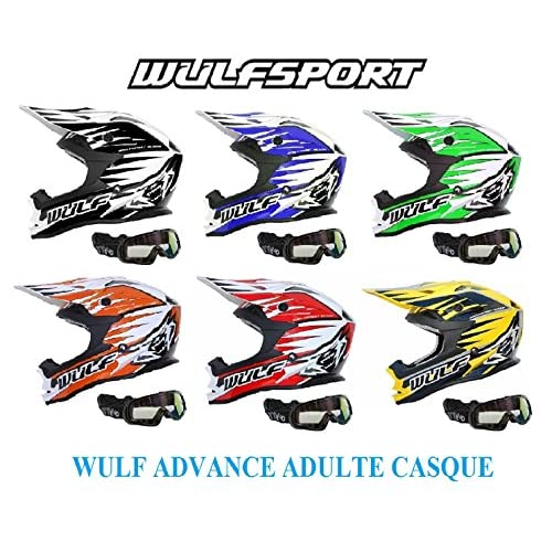 Wulf Advance Adulte Casque Casque Moto Adulte Motocross Quad Mx