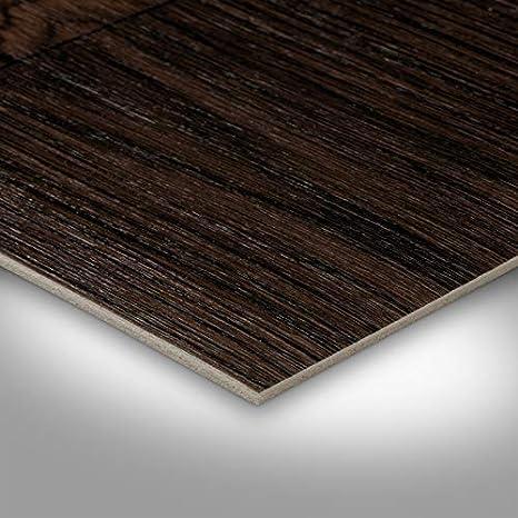 Vinyl Planken strapazierf/ähig /& pflegeleicht Vinylboden in 2m Breite /& 1m L/änge Fu/ßbodenheizung geeignet Fu/ßbodenbelag f/ür Gewerbe//Wohnbereich TAPETENSPEZI PVC Bodenbelag Landhausdiele Dunkel