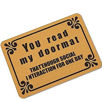 amazon com loune week halloween doormats funny you shall not passimage unavailable