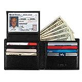 Wallet for Men-Genuine Leather RFID Blocking Slim Bifold Stylish With ID Window