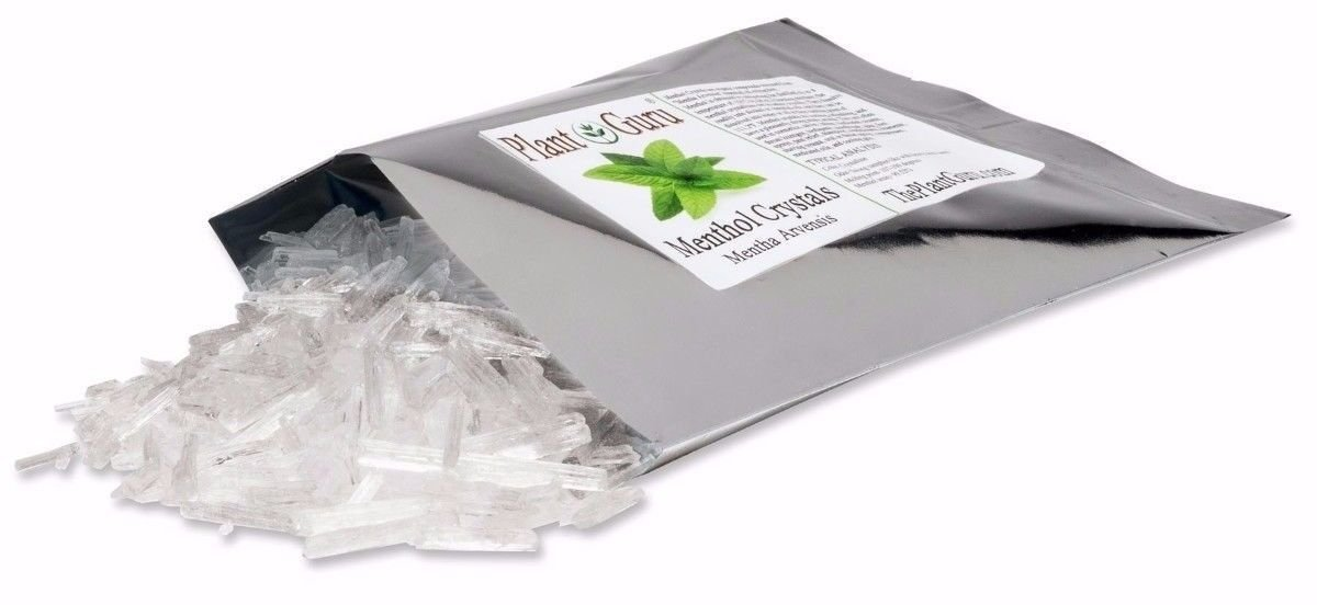 MENTHOL CRYSTALS 1lb Bulk Mentha Arvensis 100% Pure Natural USP Grade by KYUSport (Image #1)