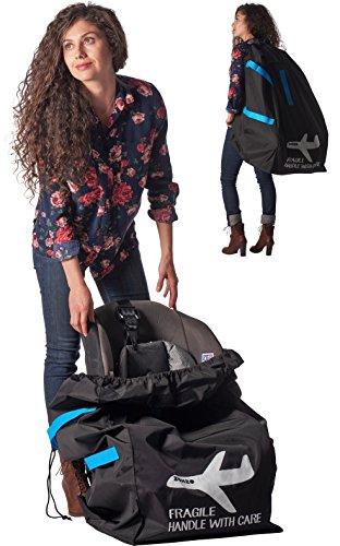 Zohzo Car Seat Travel Bag - Drawstring Bag for Air Travel (Hands Free Car Seat Bag)
