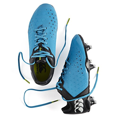 Canterbury Control Club 6 Stud, Botas de Rugby Unisex Niños Azul (X13 Atomic Blue)