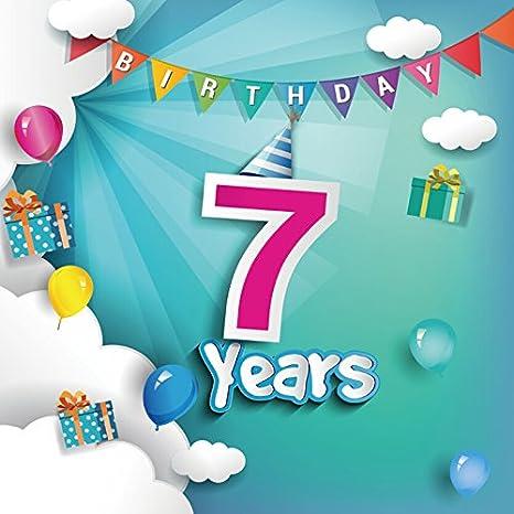 Yeele 8x8ft niña niño 7 años Antiguo cumpleaños Fondo ...