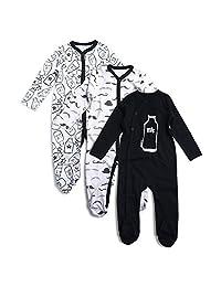 OPAWO Baby Boys' Footed Sleeper Pajamas 3 Pack