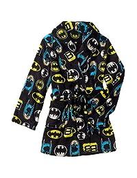 BATMAN Boy's Size 8 Black Print Fleece Bath Robe, Bathrobe