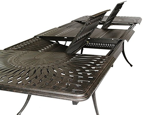 Clara Bench - K&B PATIO LD6287EC-4888-108-132 Santa Clara Extension Table, 48