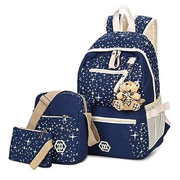 Lienzo impresión MinegRong Mochilas para chicas adolescentes. Gran capacidad de mochila escolar los niños mochilas escolares mochilas escolares de gran ...