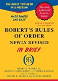Robert's Rules of Order Newly Revised In Brief, 2nd edition (Roberts Rules of Order in Brief)
