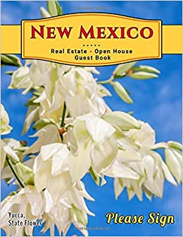 New Mexico Real Estate Open House Guest Book: Spaces for guests