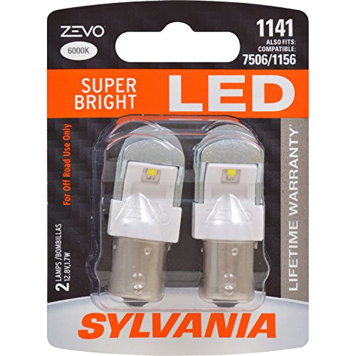 SYLVANIA - 1141 ZEVO LED White Bulb - Bright LED Bulb, Ideal for Daytime Running Lights (DRL) and Back-Up/Reverse Lights (Contains 2 Bulbs)