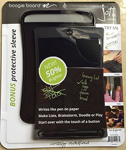 Boogie Board Jot 8.5 LCD eWriter Black Writing Tablet Plus Neoprene Sleeve Plus Stylus