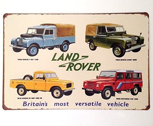 Targa da parete per Land Rover Defender off Roading Tin garage