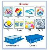 Above Ground Large Swimming Pool with Brackets Kids