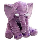 Large Size Super Soft Plush Elephant Doll Pillow, Stuffed Animal Plush Toy for Kids, Purple