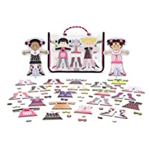 Magnetic Wooden Dolls w Stands