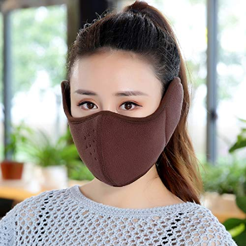 STbra Windproof Dust Ski Mask Cold Weather Winter Motorcycle Half Face  Mouth Warmer Fleece Mask Polyester cbcc7a489f
