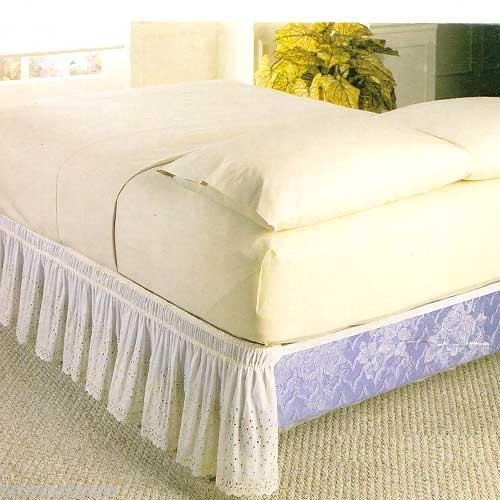 What Is A Bed Skirt.Amazon Com New Wrap Around Eyelet Lace Bed Skirt Dust