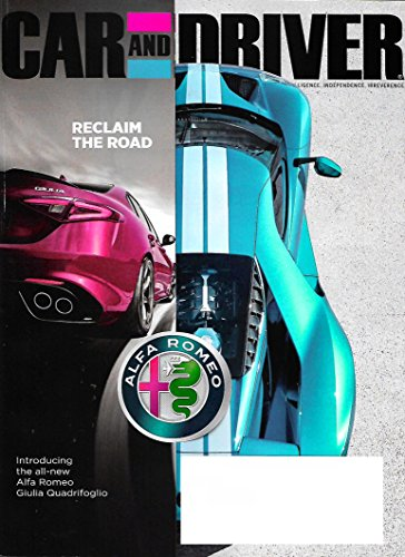 CAR AND DRIVER Magazine May 2017 FORD GT, Audi A63.0T Quattro, Mercedes (Car And Driver Magazine)
