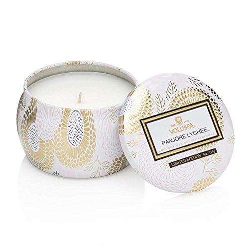 Voluspa Panjore Lychee Limited Decorative Tin Candle, 4 - Lychee Candle Scented