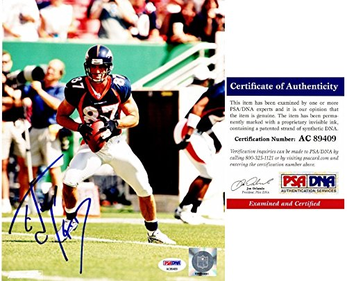 8x10 Autographed Ed Photo - Ed McCaffrey Signed - Autographed Denver Broncos 8x10 inch Photo - PSA/DNA Certificate of Authenticity (COA)