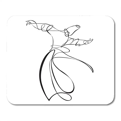 Alfombrilla de ratón Silhouette Dervish Yoga Sufi SEMA ...