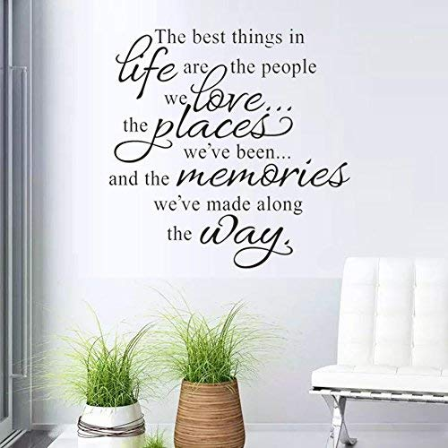 Wall Stickers The Best Things in Life Wall Decal Words Quote Wall Art Sticker Home Decor for Bedroom Living Room 22.8 X 14.7 in - Quotes Decals Wall Life