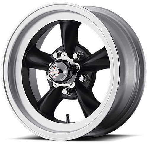 American Racing Custom Wheels VN105 Torq Thrust D Satin Black Wheel With Machined Lip (15x8/5x114.3mm, 0mm offset)