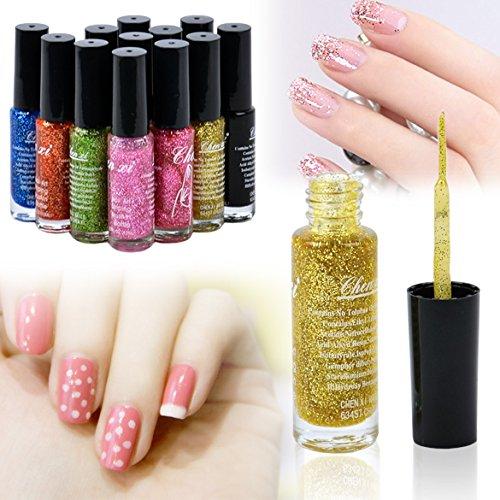 UPC 611720729548, eshion 12 Pieces Fluorescent Nail Art Polish Liner Brush Pen Nail Design Decoration Nail Enamel