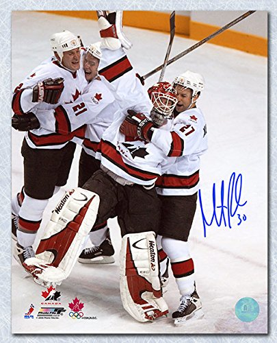 AJ Sports World Martin Brodeur Team Canada Autographed 2002 Gold Medal Celebration 8x10 Photo
