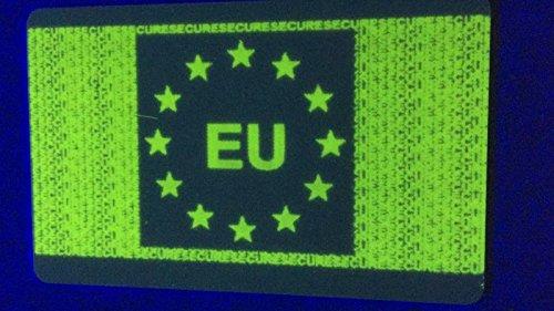 Ultraviolet UV Green Ribbon 1000 prints for Zebra p330i p430i card printers