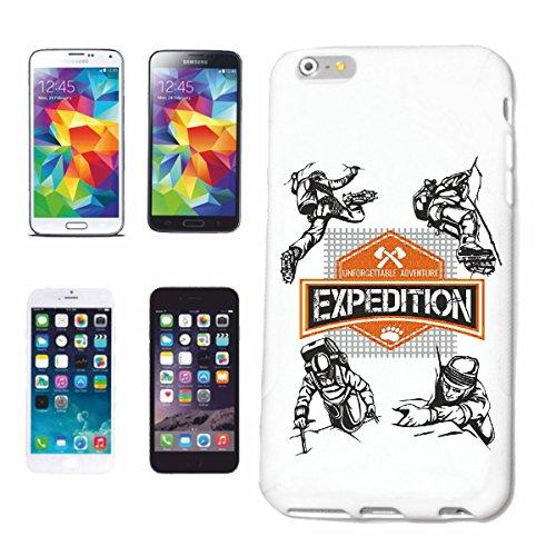 """cas de téléphone iPhone 7S """"ESCALADE MOUNTAINEER ESCALADE CHAUSSURES ÉQUIPEMENT BACKPACK RANDONNEE CORDE CARABINER"""" Hard Case Cover Téléphone Covers Smart Cover pour Apple iPhone en blanc"""