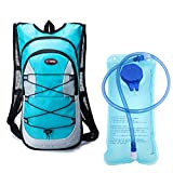 youth hydration pack - Monvecle Hydration Pack Water Rucksack Backpack Bladder Bag Cycling Bicycle Bike/Hiking Climbing Pouch + 2L Hydration Bladder Cyan