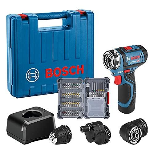 Bosch Professional 12V System Atornillador GSR 12V-15 FC (incluye batería de 1x2,0 Ah, cargador rápido, 3x accesorios de portabrocas, 40 pcs. juego de accesorios, en maletín) - Amazon Edición