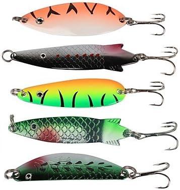 5 Pcs Señuelos Duros/Cebo Metálico/Cebos De Pesca Spinning ...