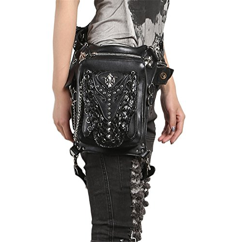 Punk PU Leather Waist Bag