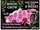 SMEREKA Orchid Food Fertilizer - Liquid Drip Orchid Feeders 5 x 25ml Pack - Easy Feeding for Plants - 1 drip Feeder Lasts up to 2 Month