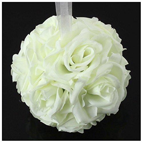 Artificial Silk Kissing Flower Ball Bouquet Wedding (light green) - 7