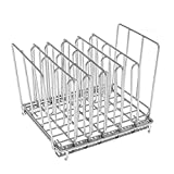 Divided Stainless Steel Food Rack Food Cooking Rack Kitchen Storage Container Food Organizers Cooker Accessories